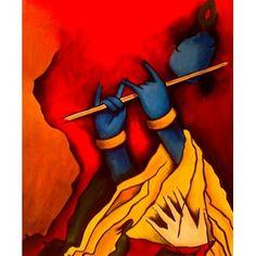 A Painting of Shree Krishna - By Artist Bapan Paul