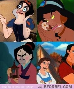 Disney villains and princesses face swap. Hilarious!