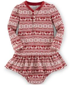 Ralph Lauren Baby Girls' Fair-Isle Dress | macys.com