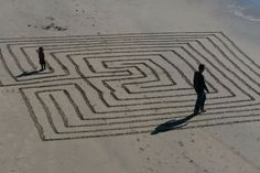 beach #labyrinth / Could be any beach. Could I do this? Hmmmm