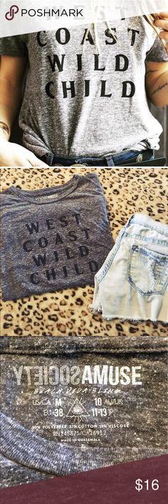 West coast wild child top! . Amuse Society Tops Tees - Short Sleeve