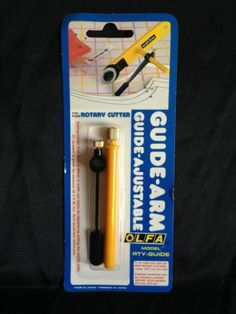 OLFA Guide Arm for Rotary Cutter Adjustable Made in Japan NIP | eBay Rotary Cutter, Knitting Projects, Arms, Japan, Sewing, How To Make, Ebay, Dressmaking, Couture