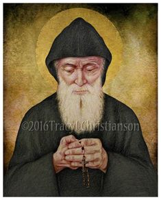 Saint Charbel Makhlouf Fine Art Print Choose or print size. DESCRIPTION: This fine art print is ready to frame. It is a copy of my original Prismacolor pencil portrait. The and are printed on acid-free 80 lb. The and larger are Catholic Gifts, Catholic Art, Religious Art, Happy Feast Day, St Charbel, Jesus Painting, Byzantine Art, The Monks, Bottle Painting
