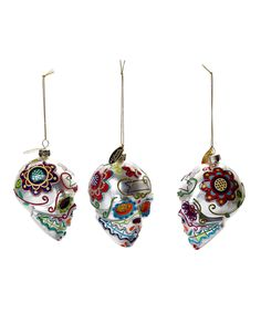 This Sugar Skull Hanging Ornament - Set of Three by Katherine's Collection is perfect! #zulilyfinds