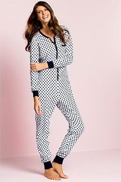 Women's Sleepwear - PJs, Nighties, Pyjamas, Robes, Dressing Gowns - Bella Fleece Onesie