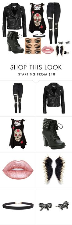 """""""Untitled #76"""" by mairethekiller on Polyvore featuring Topshop, IRO, Lime Crime, Mignonne Gavigan, Humble Chic, Marc Jacobs and Belk & Co."""