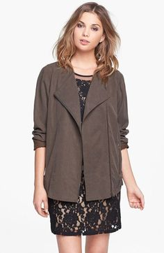 ASTR Collarless Slouchy Roll Sleeve Jacket available at #Nordstrom