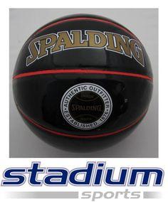 SPALDING BASKETBALLL BALL | SPALDING NBA LOGO BASKETBALL - SUPER GLOSS - BLACK/RED - Stadium ...