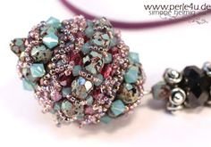 www.PERLE4U.de - Pearl * Instructions * Jewelry: LUCINDA - 2 new kits