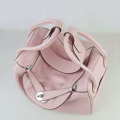 Hermes Lindy Brown Cowskin Leather Handbags Silver Hardware ...