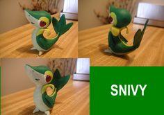 polymer clay pokemon | Clay Snivy (Smugleaf) by DanielMejia12 on DeviantArt