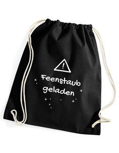 587fa9680d8c1 Feenstaub geladen - cooler Gymsack Turnbeutel