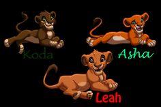 Kovu and Kiara's cubs