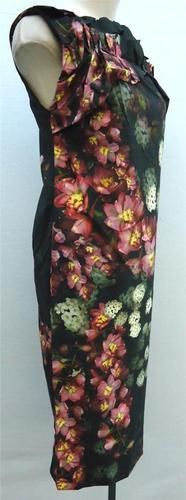 Vera Wang Womens Asymmetrical Pink Flowers Taffeta Dress DN84 in Charcoal Size 4   eBay