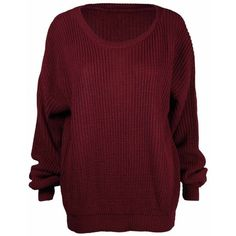 Ladies New Plain Chunky Knit Loose Baggy Oversized Jumper Tops Womens... ❤ liked on Polyvore featuring tops, sweaters, baggy sweaters, chunky knit sweater, jumpers sweaters, oversized sweaters and oversized chunky knit sweater