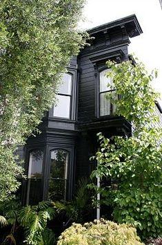 black decorating design house design home design Mesa Exterior, Interior Exterior, Exterior Design, Black Exterior, Houses Architecture, Architecture Design, Future House, My House, Black House