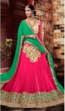 Deep Pink Color Georgette Circular Style Occasional Wear Lehenga Choli | FH529780053 >>>>>> Follow Us @heenastyle <<<<<<< --------------------------------------------------------- #styleinspiration #onlineboutique #boutiquefashion #boutiquestyle #boutiqueclothing #fashionphotography #lookbook #design #fashiontrends #fashiondesign #fashionmodel #fashionwa #potd #summer #springwedding #tuxedo #purplesuit #purple #maroonwedding  #lehengacholi #lehenga #indiancloth #heenastyle