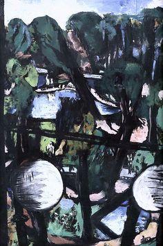 Max Beckmann. 1884-1950. Vue sur le Tiergarten à Berlin. 1937. Munich Pinakothek der Modern.