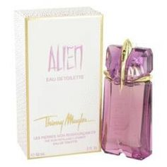 Alien Eau De Toilette Spray By Thierry Mugler. Alien Perfume by Thierry Mugler, Thierry Mugler Alien Perfume Is Captivating In Its Unusual Composition. It's One Of The Most Simplistic And Also One Of The Most Unique Perfumes Available For Women, And It's Many Fragrance Fans' Favorite For Nighttime Wear. Alien Perfume Contains Indian Jasmine Top Notes, Woody Scents For The Middle Notes, And White Amber In The Base Notes. One Can Also Catch Green Notes And A Hint Of Vanilla. This Heady…