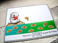 Otter Birthday Card