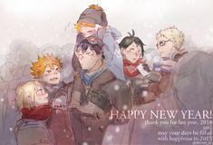 happy new year! Haikyuu Karasuno, Haikyuu Fanart, Kagehina, Haikyuu Anime, Manhwa Manga, Anime Manga, Haikyuu Characters, Anime Characters, New Year Anime