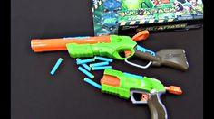 Pistola giocattola. Bug Attack X-shot. Video su due pistole giocattole