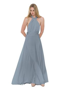 A floor-length convertible bridesmaid dress with changeable wrap styles in  nine colors. Affordable 1246d8c1d851