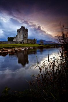 A beautiful peaceful evening in the Killarney National park in County Kerry. A majestic Ross Castle sunset by Lough Leane in Killarney County Kerry. Ireland Vacation, Ireland Travel, Places To Travel, Places To See, Destinations, Mysterious Places, Belle Photo, Dream Vacations, Connemara