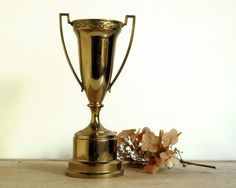 Vintage Brass Trophy Dodge Loving Cup Sports by CalloohCallay, $52.00