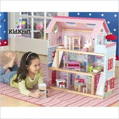 "KidKraft Chelsea Dollhouse. Designed for 4"" dolls and includes furniture."