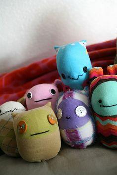 Sock Monster Group by Milky Robot