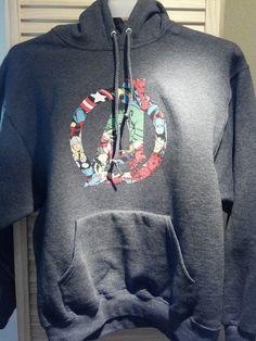 Adult's Superhero: Avengers sweatshirt-- Personalization Available.. $27.50, via Etsy.