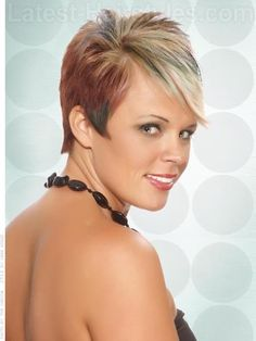 Wild Child Short Cut with Funky Color Side Viethe other side view....