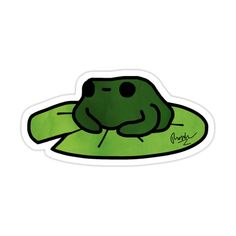 Kawaii Stickers, Laptop Stickers, Cute Stickers, Art Drawings Sketches, Cute Drawings, Frog Drawing, Cute Frogs, Cool Pins, My Notebook