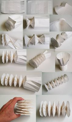 An origami spring made out of a sheet of paper. tentacle construction a la origami? Paper folding to the spring! Origami Design, Diy Origami, Origami Rose, Mode Origami, Origami Paper Folding, Paper Crafts Origami, Useful Origami, Origami Tutorial, Paper Crafting