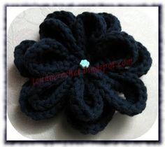 Moda para Crochet: flor de crochê