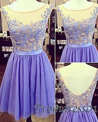 #promdress01 prom dresses - 2015 cute lavender lace open back mini prom dress for teens, homecoming dress, occasion dress #prom2k15 -> www.promdress01.c... #coniefox #2016prom