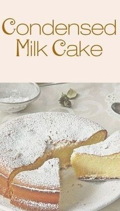 Milk Cake made me fall in love with condensed milk even more. It is unbelievably moist and dense. Sweet enough to satisfy your cravings and the texture is to die for - that is, if you baked it just right! Just Desserts, Delicious Desserts, Yummy Food, Food Cakes, Cupcake Cakes, Sweets Cake, Condensed Milk Cake, Recipes With Condensed Milk, Condensed Milk Biscuits