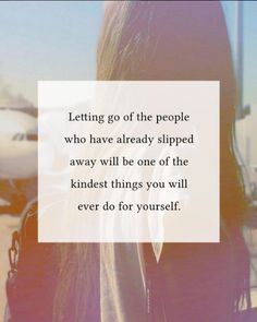 Letting go of the people who have already slipped away..  http://ift.tt/1QWx9sf