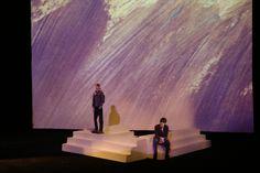 """Modellino per la scena di """"Best Friend"""", prove per i fondali da proiettare - Scale model for """"Best Friend"""" set design by Antonio Panzuto, color test for backdrop projector"""