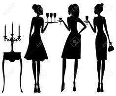 vintage silhouettes coctel - Buscar con Google