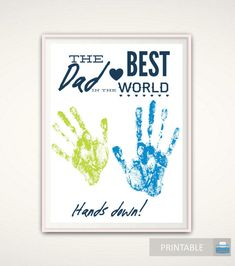 Gift for Dad, Personalized Father's Day Gift from Kids, INSTANT Download Fathers Day Printable, Birthday Gift for Dad, DIY Handprint Art