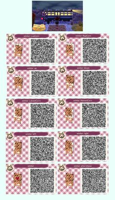 Animal Crossing New Leaf & Hhd Qr Code Paths in 2020 (With images) Animal Crossing Qr Codes, Acnl Paths, Leaf Animals, Motif Acnl, Ac New Leaf, Brick Path, Tile Patterns, Leaf Patterns, Winter Theme