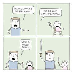 Poorly Drawn Lines – Gun Baby