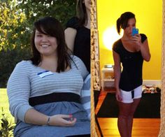 l0vey0urselfff:  here, since you guys wanted a new progress picture! :D my b at looking so annoyed in the second one my sister just walked in on me naked hahaha. october 2011 vs june 2012  holy shit.