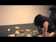 Woman In Tight Dress Slips on Butter for Twenty Minutes, Calls It Art    June 5, 2010 - Melati Suryodarmo