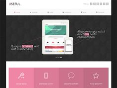 Useful is a Bootstrap Responsive Template with lot of features such as Retina Display Ready, valid HTML5, vector icon fonts, working contact form