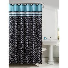 Victoria Classics Khadi Printed Shower Curtain With Hooks