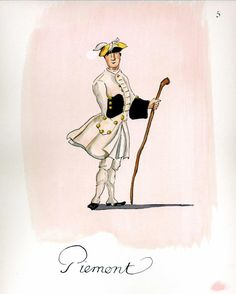 French Army 1735 by Gudenus - Infantry Regiment Piemont
