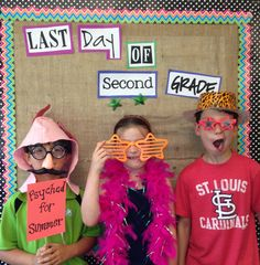 Photobooth for the last day of school-I actually did it on the second to last day of school so I could include these in the end of the year video!